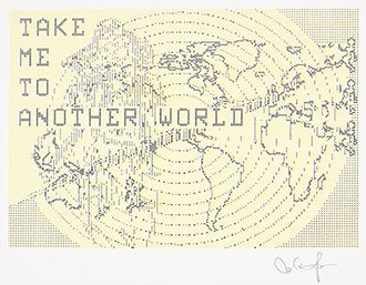 Charlotte Johannesson, Take me to another world, 1981-1986. Gráfica digital. Cortesía de la artista